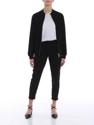 Alberta Ferretti: casual jackets online - Crepe cady sweatshirt style jacket