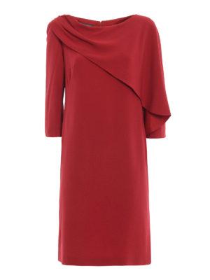 ALBERTA FERRETTI: abiti da cocktail - Abito asimmetrico dritto rosso con drappeggio