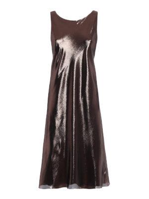 ALBERTA FERRETTI: abiti da cocktail - Abito in lamé color bronzo