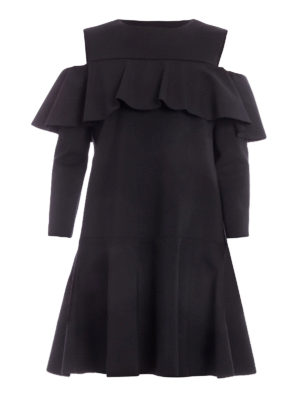 Alberta Ferretti: cocktail dresses - Flared ruffle dress