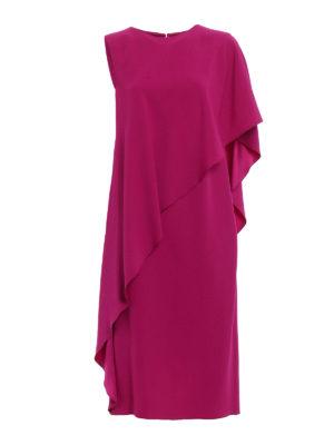 Alberta Ferretti: cocktail dresses - Flounced crepe cocktail dress