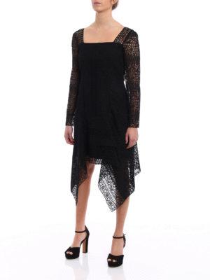 Alberta Ferretti: cocktail dresses online - Lined macramé cocktail dress