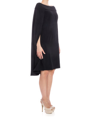 Alberta Ferretti: cocktail dresses online - Mistery Cape satin dress