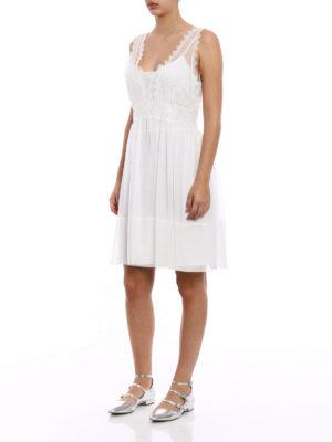 Alberta Ferretti: cocktail dresses online - Silk and lace sleeveless dress