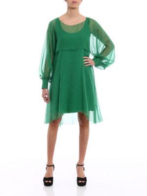 Alberta Ferretti: cocktail dresses online - Silk chiffon flounced dress