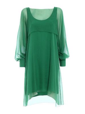 Alberta Ferretti: cocktail dresses - Silk chiffon flounced dress