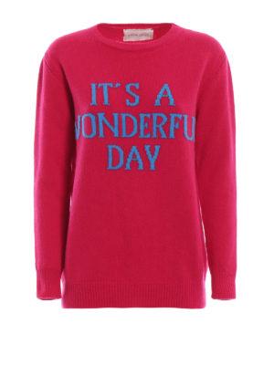 ALBERTA FERRETTI: maglia collo rotondo - Pull It's a Wonderful Day in lana e cashmere