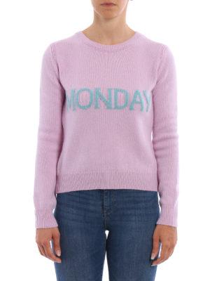 Alberta Ferretti: crew necks online - Monday wool and cashmere sweater