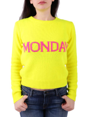 Alberta Ferretti: crew necks online - Rainbow Week Monday sweater
