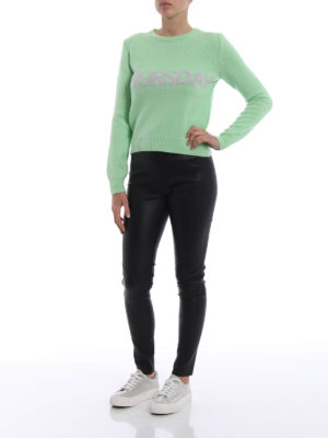 Alberta Ferretti: crew necks online - Rainbow Week Thursday green sweater
