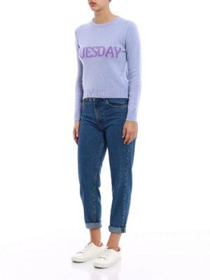 Alberta Ferretti: crew necks online - Rainbow Week Tuesday sweater