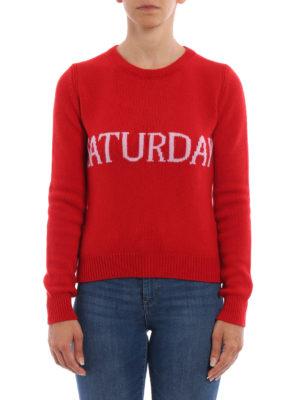 Alberta Ferretti: crew necks online - Saturday wool and cashmere sweater