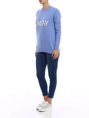 Alberta Ferretti: crew necks online - Sunday Rainbow Week sweater
