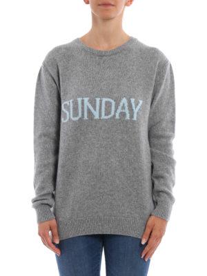 Alberta Ferretti: crew necks online - Sunday wool and cashmere sweater
