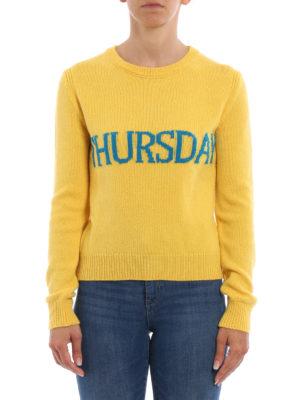 Alberta Ferretti: crew necks online - Thursday wool and cashmere sweater