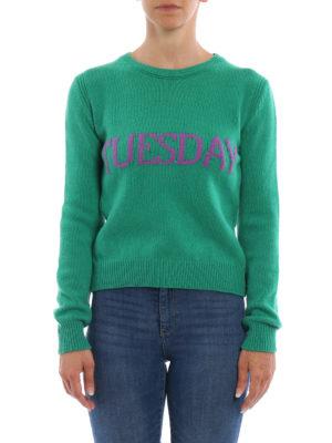 Alberta Ferretti: crew necks online - Tuesday wool and cashmere sweater