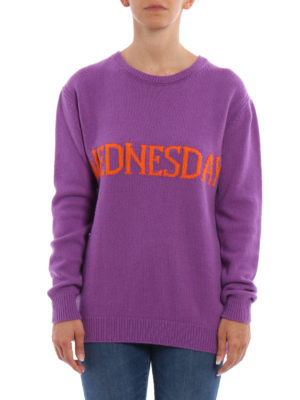 Alberta Ferretti: crew necks online - Wednesday wool and cashmere sweater