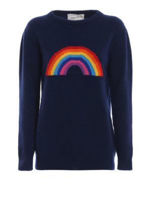 ALBERTA FERRETTI: maglia collo rotondo - Pull in lana e cashmere con arcobaleno