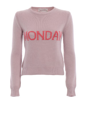 Alberta Ferretti: crew necks - Rainbow Week Monday pink sweater