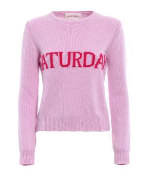 Alberta Ferretti: crew necks - Rainbow Week Saturday lilac sweater