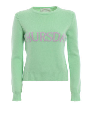 Alberta Ferretti: crew necks - Rainbow Week Thursday green sweater