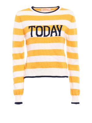 Alberta Ferretti: crew necks - Rainbow Week Today striped sweater