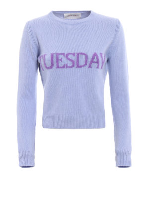 Alberta Ferretti: crew necks - Rainbow Week Tuesday sweater