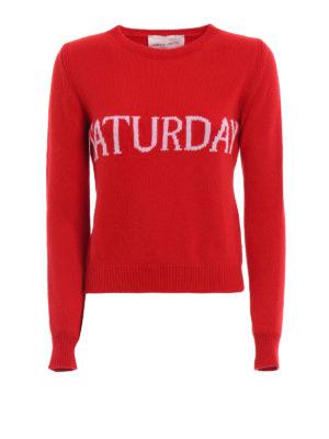 Alberta Ferretti: crew necks - Saturday wool and cashmere sweater