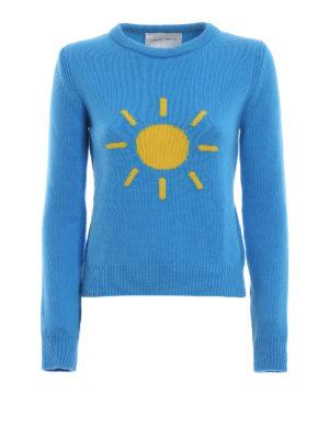 ALBERTA FERRETTI: maglia collo rotondo - Pull in lana e cashmere con sole a contrasto