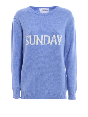 Alberta Ferretti: crew necks - Sunday Rainbow Week sweater
