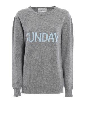 Alberta Ferretti: crew necks - Sunday wool and cashmere sweater