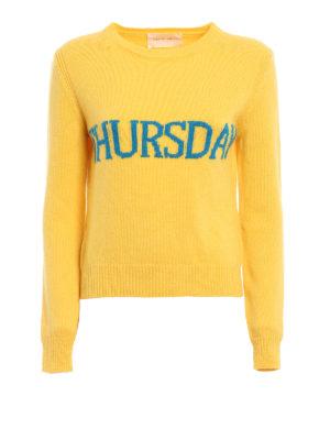 Alberta Ferretti: crew necks - Thursday wool and cashmere sweater