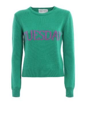 Alberta Ferretti: crew necks - Tuesday wool and cashmere sweater