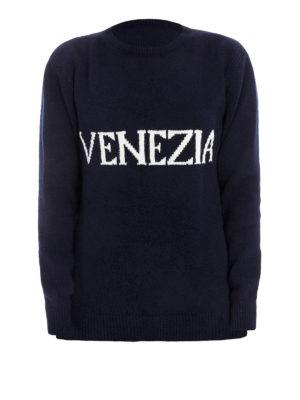 Alberta Ferretti: crew necks - Venezia wool blend catwalk sweater