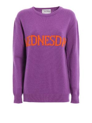 Alberta Ferretti: crew necks - Wednesday wool and cashmere sweater