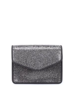 Alberta Ferretti: cross body bags - Rhinestone-adorned cross body bag