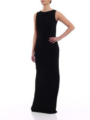Alberta Ferretti: evening dresses online - Black fluid cady long dress
