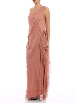 Alberta Ferretti: evening dresses online - One shoulder silk draped dress