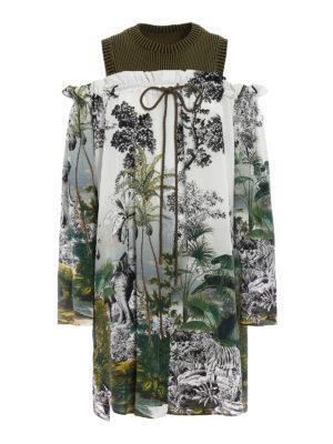 Alberta Ferretti: knee length dresses - Jungle printed silk dress