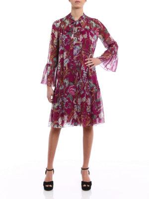 Alberta Ferretti: knee length dresses online - Silk chiffon shirt dress