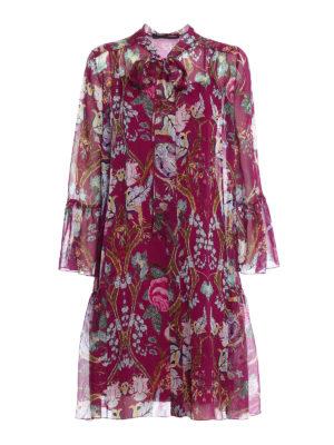Alberta Ferretti: knee length dresses - Silk chiffon shirt dress