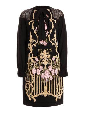 Alberta Ferretti: knee length dresses - Wool and lace embellished dress