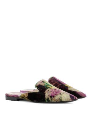 Alberta Ferretti: Loafers & Slippers online - Mia floral velvet slippers