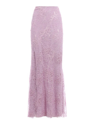 Alberta Ferretti: Long skirts - Embroidered lace long skirt