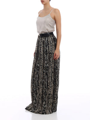 Alberta Ferretti: Long skirts online - Belt detailed silk skirt