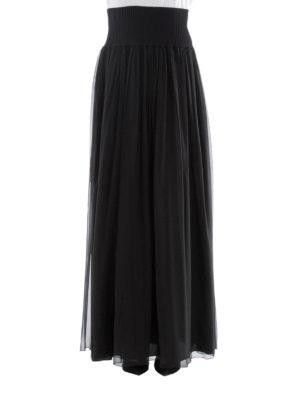Alberta Ferretti: Long skirts online - Black silk pleated skirt