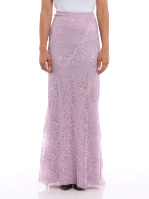 Alberta Ferretti: Long skirts online - Embroidered lace long skirt
