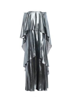 ALBERTA FERRETTI: abiti lunghi - Abito a strati in misto seta lamé
