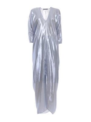 ALBERTA FERRETTI: abiti lunghi - Abito ampio in lamé di misto seta