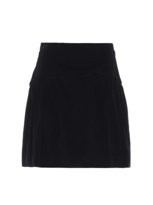ALBERTA FERRETTI: minigonne - Minigonna in velluto millerighe nero